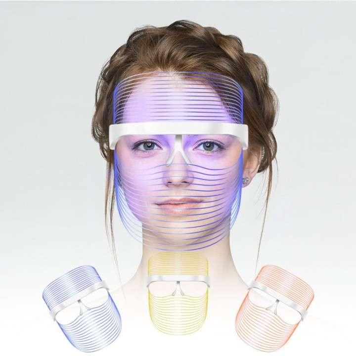 Mascara facial led de 3 colores ideal para las arrujas,acne. - 1