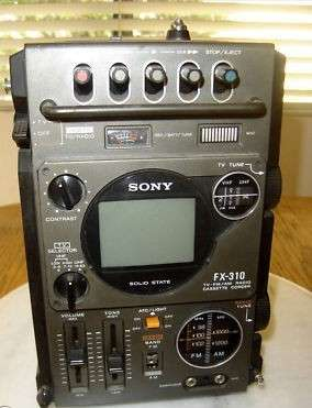 Vintage sony solid state tv fx-310 am/fm cassette 1978 - 0