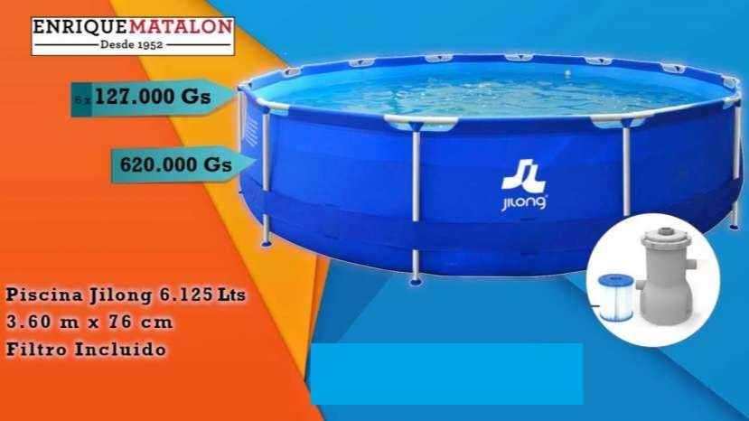 Piscina Jilong de Lona 6.125 Lits + Filtro - 0