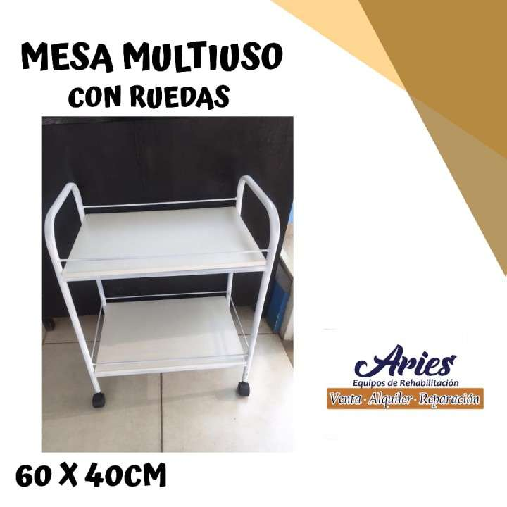 Mesa multiuso con ruedas 60x40cm - 0