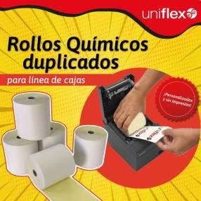 Rollos de papel químico duplicado para línea de cajas