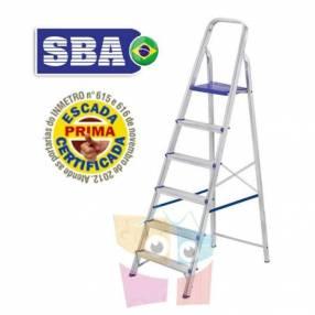 Escalera 169 cm tijera de aluminio 6 peldaños SBA