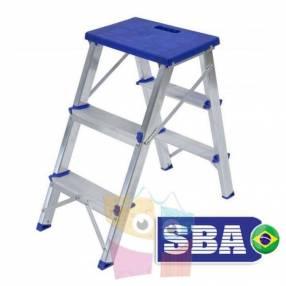 Banqueta con escalera 62 cm de aluminio 2 peldaños SBA