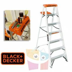 Escalera 210 cm tijera de aluminio Black+Decker 7 peldaños