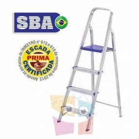 Escalera 129 cm tijera de aluminio 4 peldaños SBA