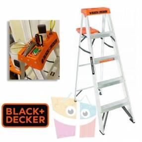 Escalera 152 cm tijera de aluminio Black+Decker 5 peldaños