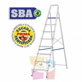 Escalera 209 cm tijera de aluminio 8 peldaños SBA