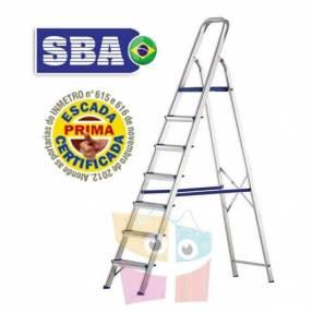 Escalera 189 cm tijera de aluminio 7 peldaños SBA