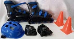 Roller Azul Set Para Niños