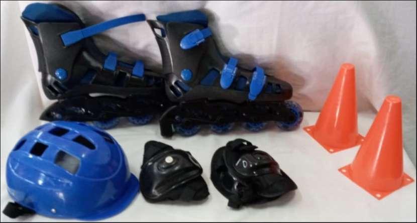Roller Azul Set Para Niños - 0