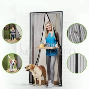 Mosquitero para puerta autoadhesivo y cierre magnético 1x2m