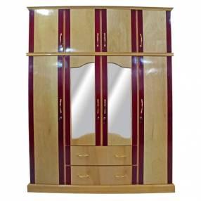 Ropero de 4 puertas duco de madera