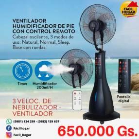 Ventilador con humidificador Consumer