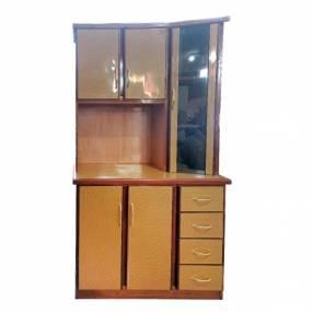 Mueble de cocina de madera nar kit cocina con vidrio