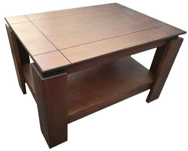 Mesa centro ratonera de madera - 1