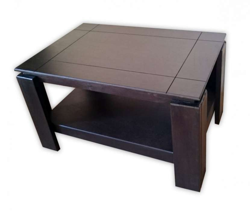 Mesa centro ratonera de madera - 0