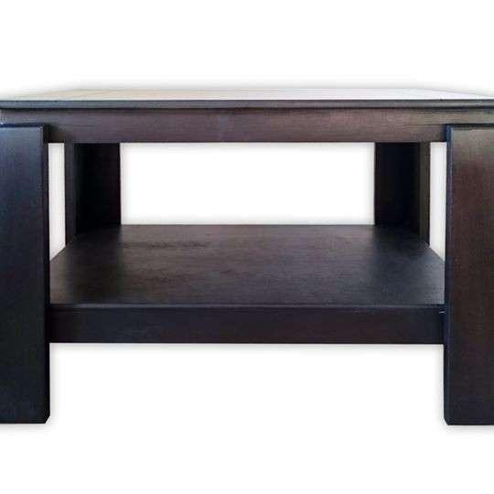 Mesa centro ratonera de madera - 3