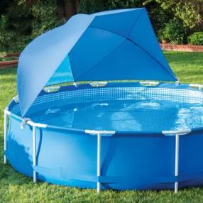 Toldo para piscinas con estructura