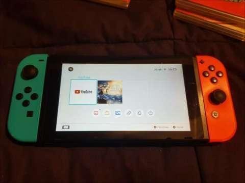 Nintendo Switch + 3 juegos + tarjeta de memoria de 128 gb - 8