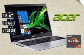 Notebook Acer Ryzen 3 Ram 8GB + SSD 128GB.