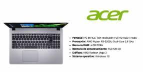 Notebook Acer Ryzen 3 Ram 4GB + SSD 128GB.