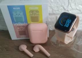 Reloj D20 y auricular rosa ️