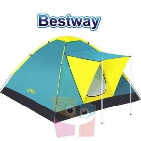 Carpa de Camping - Para 3 personas - 2,1 x 2,1 x 1,2 Mtrs