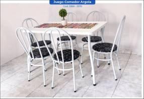 Juego comedor Argola de 6 sillas