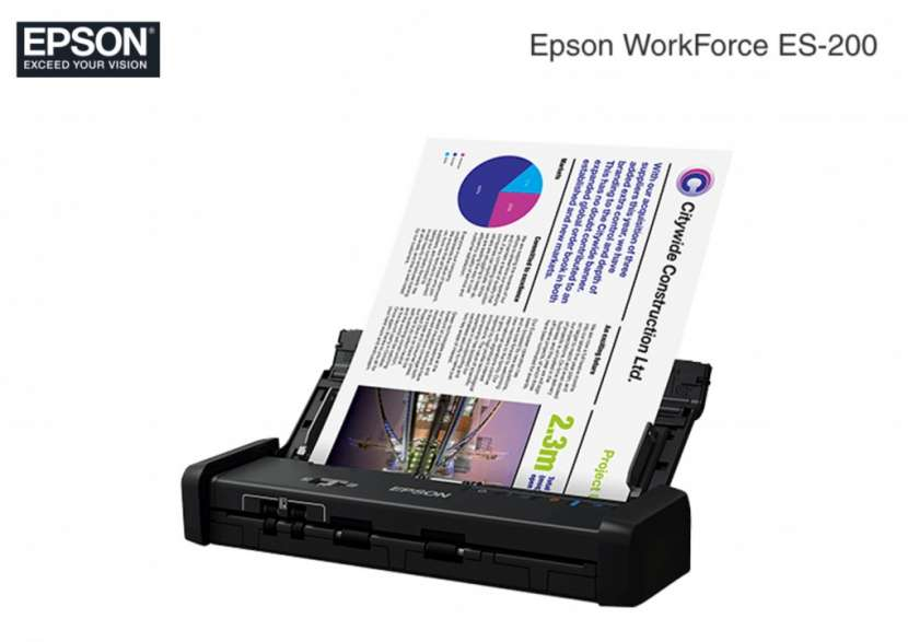 Scanner Epson ES-200 WorkForce 600DPI Duplex-Color USB - 0