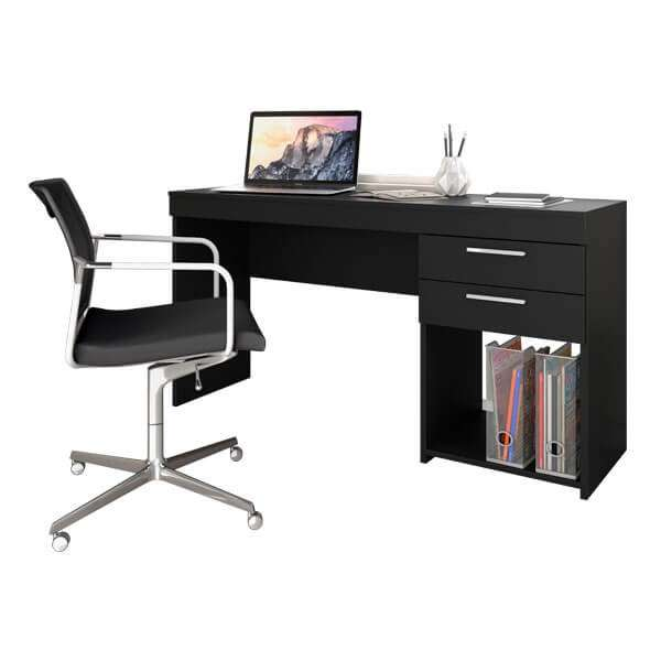 Mesa Office 51015 Notavel Negro - 0