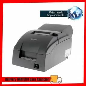 Impresora matricial Epson TMU220A-890 con kit usb bivolt gris