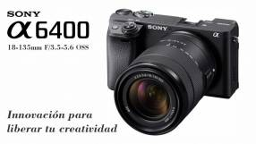 Cámara Sony A6400 Kit 18-135mm