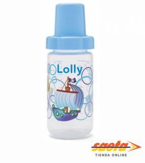 Mamadera 300 ml azul 11375 Lolly