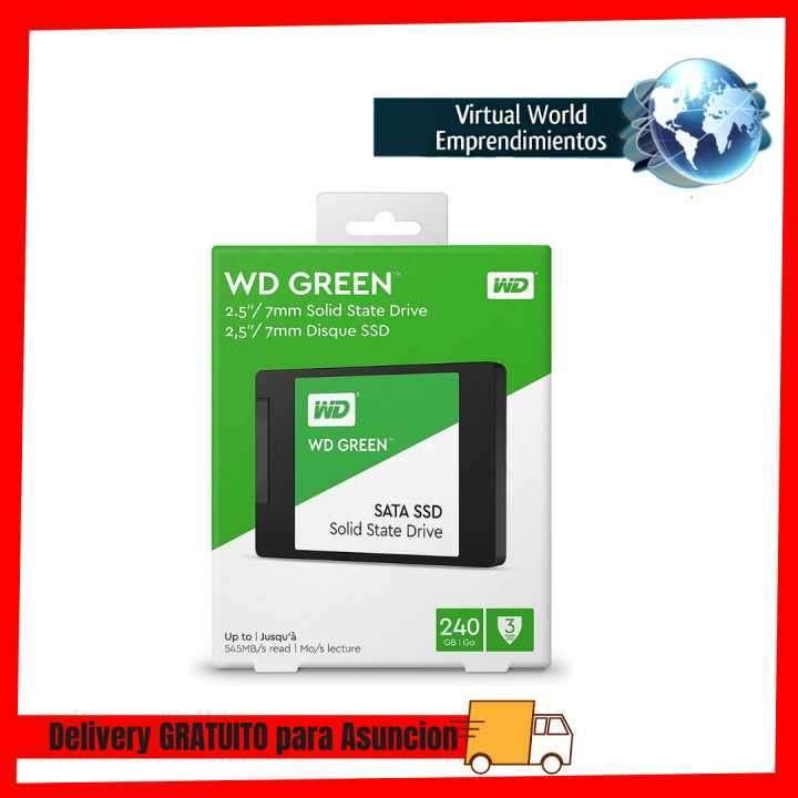 Ssd sata3 240gb western digital wds240g2g0a green - 0