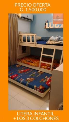 Litera infantil 3 camas con sus colchones