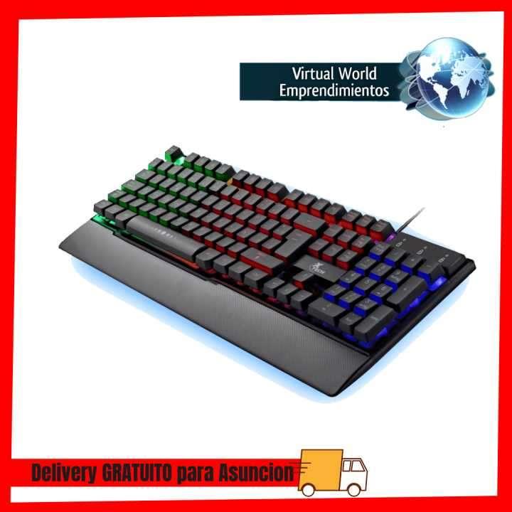 Teclado Xtech usb gaming XTK-510S RGB multimedia español - 0