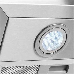 Campana de pared vidrio curvo 90cm fogatti inox abba