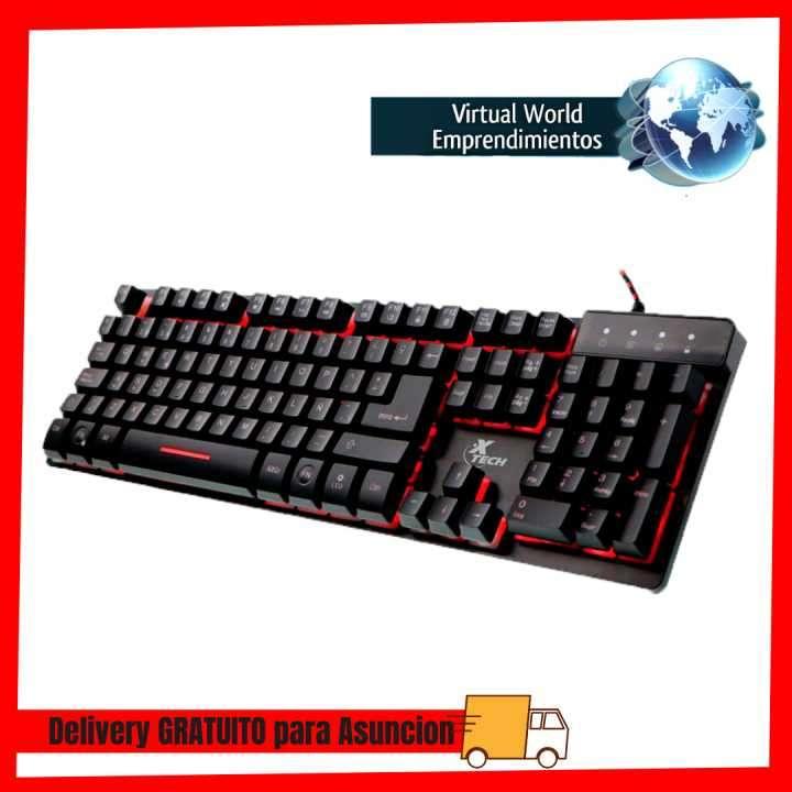 Teclado Xtech usb gaming xtk-520s multimedia RGB/español - 0