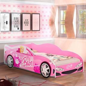 Cama auto Babi J&A Abba rosa con colchón 253208 P8010