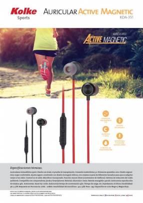 Auricular kolke sport imantado koa-351