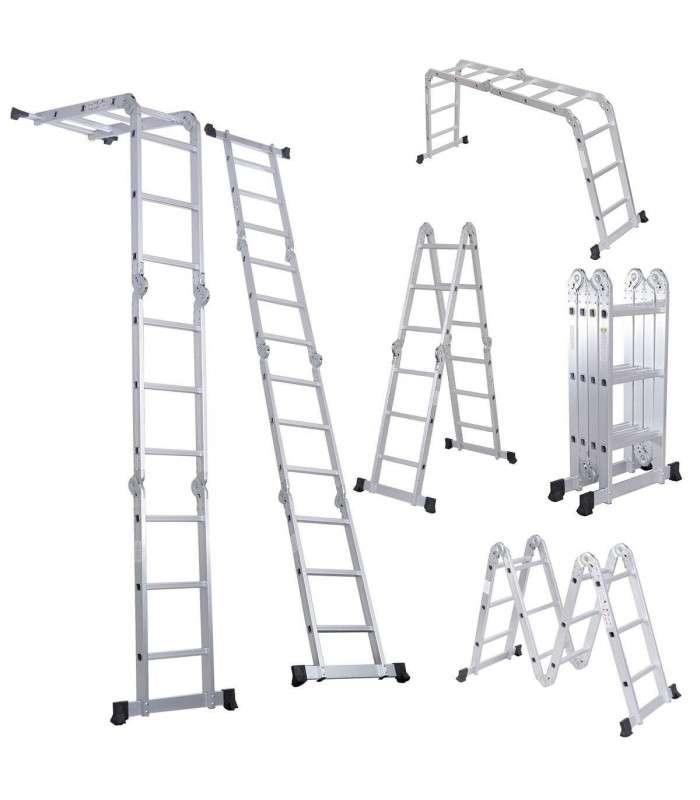 Escalera articulada multripoposito 3.70 m p/ andamios - 1