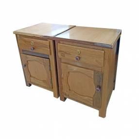 Mesita mesa de luz de madera con cajon por unidad