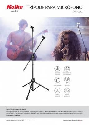 Trípode para micrófono Kolke KVT-272