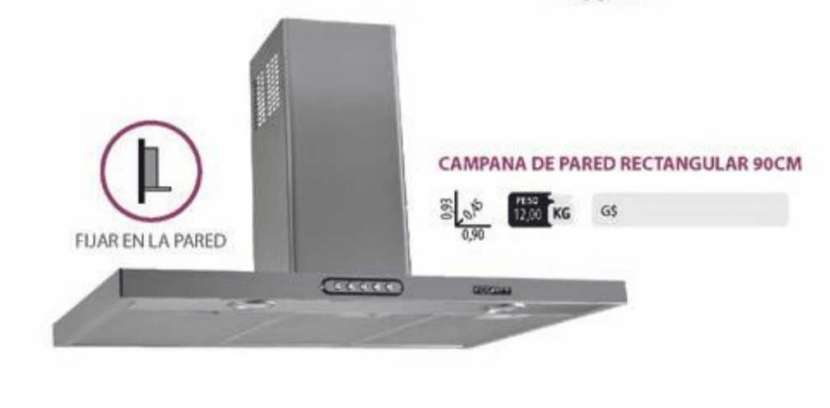 CAMPANA DE PARED 90CM FOGATTI INOX RECTANGULAR SLIM ABBA - 0
