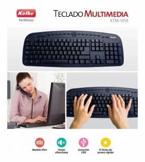 Teclado Pc Multimedia Usb Silencioso Español (KT-105E)