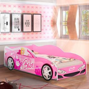 Cama auto babi j&a abba rosa sin colchon (253208)