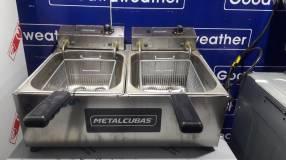 Freidora doble Metalcubas 10L