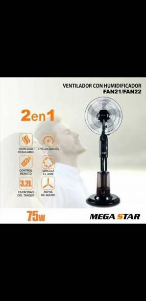 Ventilador 2 en 1 Mega Star