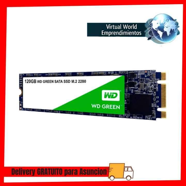 Ssd m.2 sata3 120gb western digital wds120g2g0b green - 0