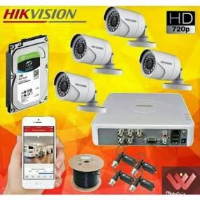 Instalación de 6 cámaras Hikvision hd